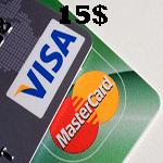 ویزاكارت مجازی 15 دلاری