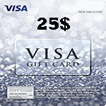 کارت ویزا 25 دلاری