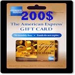 كارت امريكن اكسپرس 200 دلاری