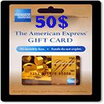 كارت امريكن اكسپرس 50 دلاری
