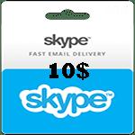 کارت اسکایپ 10 دلاری