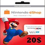 کارت نینتندو 20 دلاری
