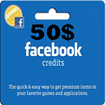 کارت فیسبوک 50 دلاری