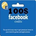 کارت فیسبوک 100 دلاری