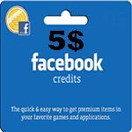کارت فیسبوک 5 دلاری