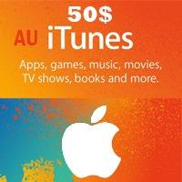 گیفت کارت اپل 50 دلاری استراليا