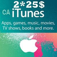 گیفت کارت اپل 50 دلاری كانادا