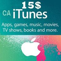 گیفت کارت اپل 15 دلاری كانادا