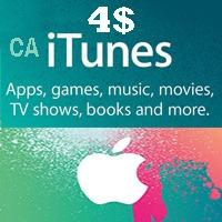 گیفت کارت اپل 4 دلاری كانادا