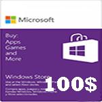 گيفت كارت مایکروسافت 100 دلاری
