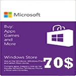 گيفت كارت مایکروسافت 70 دلاری