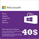 گيفت كارت مایکروسافت 40 دلاری