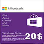 گيفت كارت مایکروسافت 20 دلاری