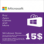 گيفت كارت مایکروسافت 15 دلاری