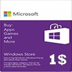 گيفت كارت مایکروسافت 1 دلاری