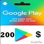 گيفت كارت گوگل پلی 200 دلاری