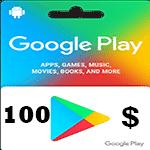 گيفت كارت گوگل پلی 100 دلاری