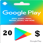 گيفت كارت گوگل پلی 20 دلاری