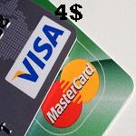 ویزاكارت مجازی 4 دلاری