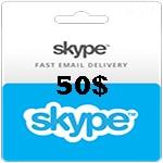کارت اسکایپ 50 دلاری