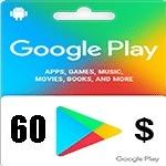 گيفت كارت گوگل پلی 60 دلاری