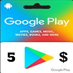 گيفت كارت گوگل پلی 5 دلاری