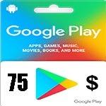 گيفت كارت گوگل پلی 75 دلاری
