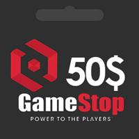 گیفت کارت گیم استاپ 50 دلاری GameStop
