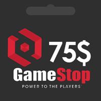گیفت کارت گیم استاپ 75 دلاری GameStop