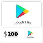 شارژ 200 دلاری اکانت گوگل پلی