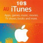 گیفت کارت اپل 10 دلاری استراليا